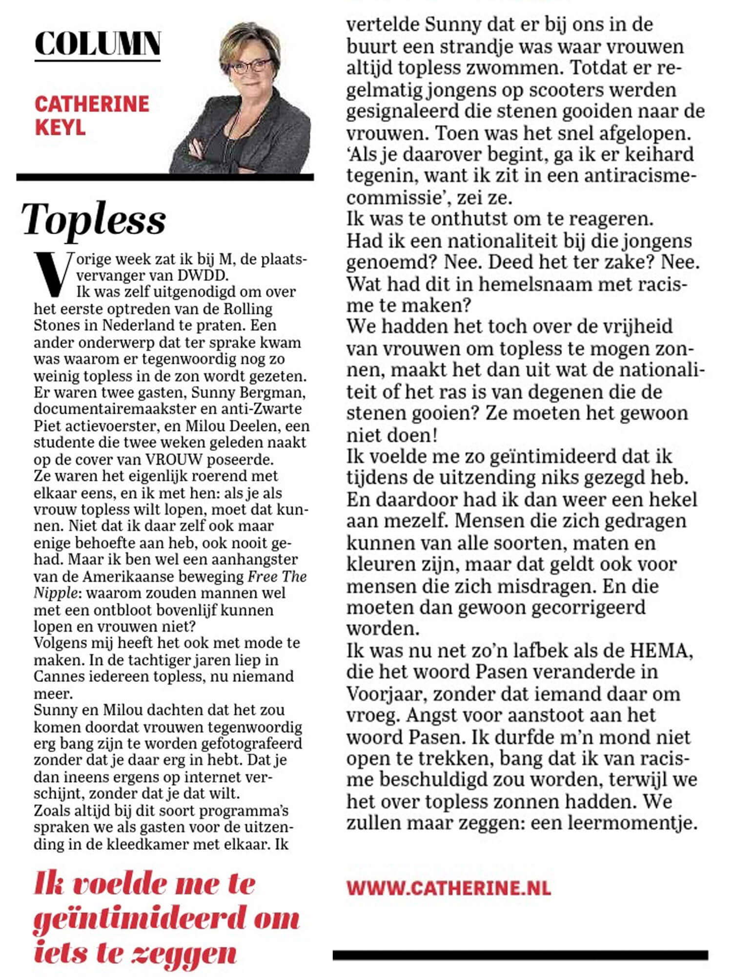 Column Catherine Keyl