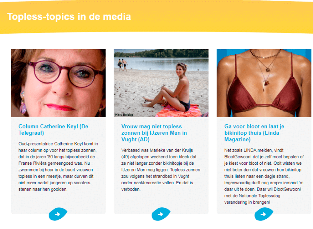 Topless Topics in de media