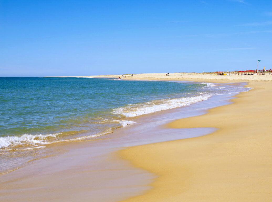 Naaktstrand Ilha-deserta Portugal blootgewoon
