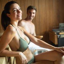 badkledingdag in de sauna