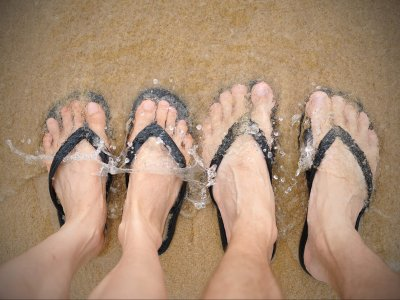 Feet on a Beach - Summer Vacation Theme