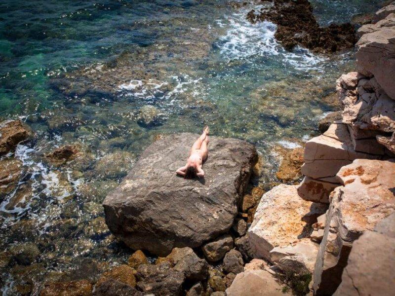 Summer, Beach, Women, Vacations, Croatia,Nudist, Tropical Climate, Sunbathing, Naked